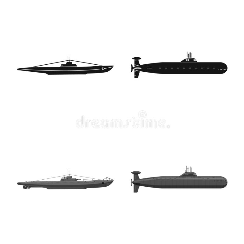 Vectorontwerp van oorlog en schipsymbool Reeks van oorlog en de vectorillustratie van de vlootvoorraad vector illustratie