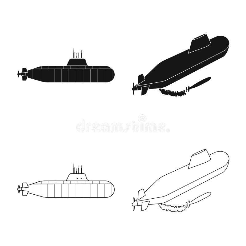 Vectorontwerp van oorlog en schipteken Inzameling van oorlog en de vectorillustratie van de vlootvoorraad vector illustratie