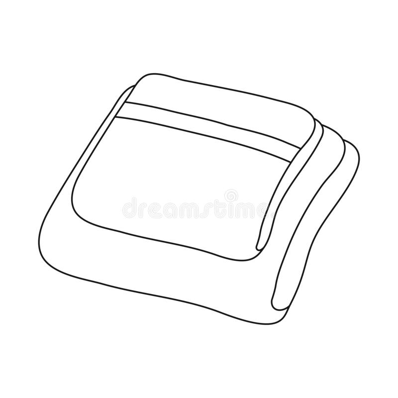 Vectorontwerp van opgestapeld en dishtowel embleem Reeks van de opgestapelde en vectorillustratie van de huisvoorraad royalty-vrije illustratie
