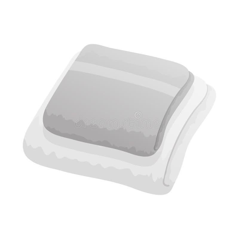 Vectorontwerp van opgestapeld en dishtowel teken Reeks van het opgestapelde en symbool van de huisvoorraad voor Web stock illustratie