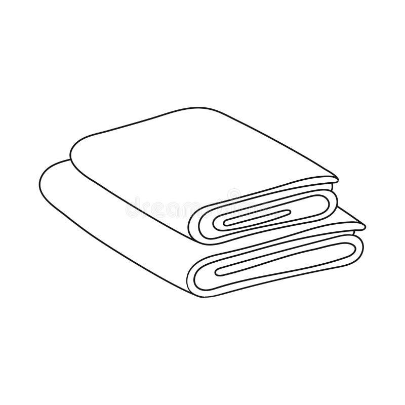 Vectorontwerp van opgestapeld en saunapictogram Reeks van opgestapeld en douche vectorpictogram voor voorraad stock illustratie