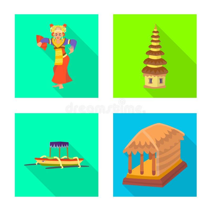 Vectorontwerp van reis en toerismepictogram Inzameling van reis en het symbool van de eilandvoorraad voor Web royalty-vrije illustratie