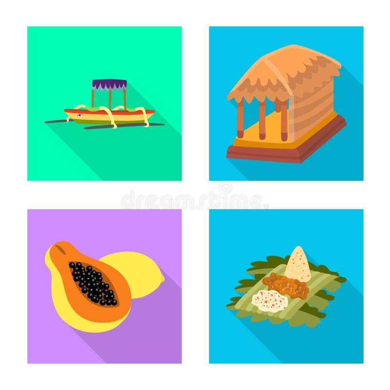 Vectorontwerp van reis en toerismepictogram Inzameling van reis en het symbool van de eilandvoorraad voor Web stock illustratie