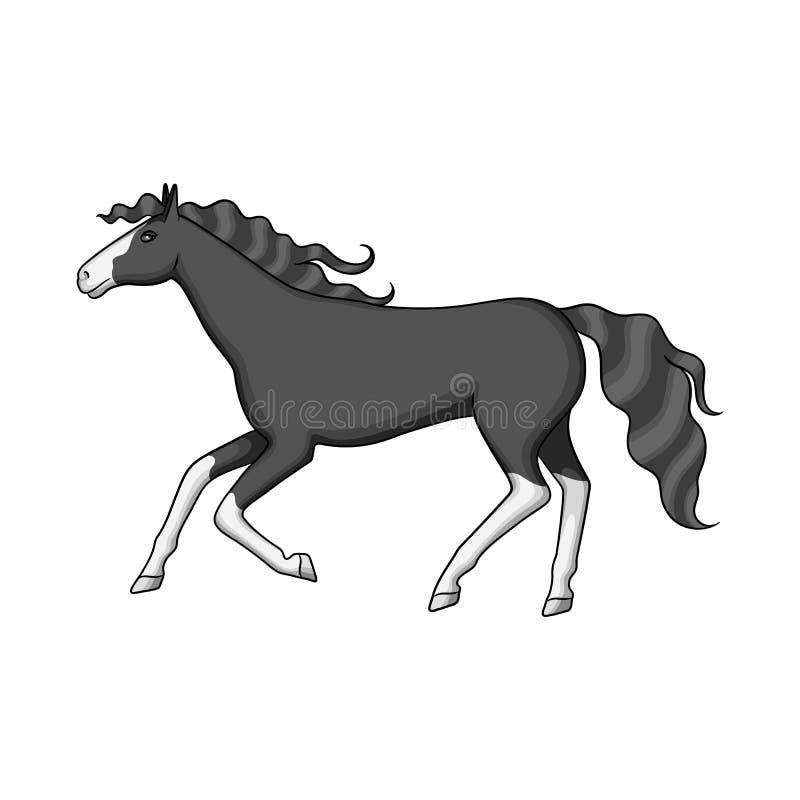 Vectorontwerp van ros en bruin embleem Reeks van ros en galopvoorraad vectorillustratie vector illustratie