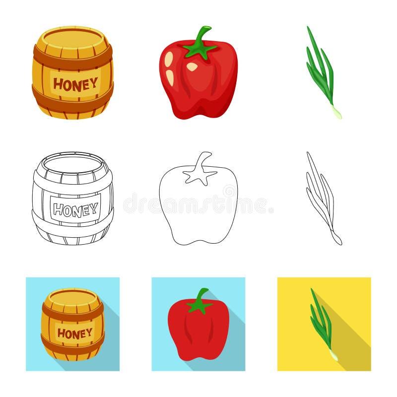 Vectorontwerp van smaak en productsymbool Reeks van smaak en kokend vectorpictogram voor voorraad stock illustratie