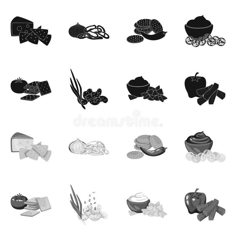 Vectorontwerp van smaak en seasonin embleem Inzameling van smaak en organisch vectorpictogram voor voorraad vector illustratie