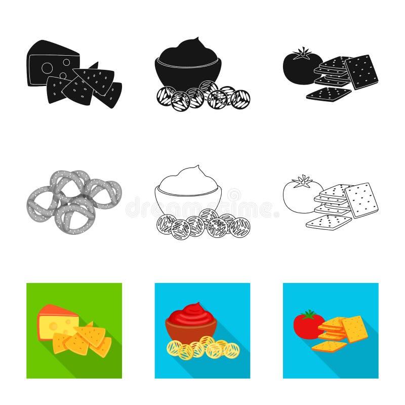 Vectorontwerp van smaak en seasonin pictogram Reeks van smaak en organisch vectorpictogram voor voorraad vector illustratie