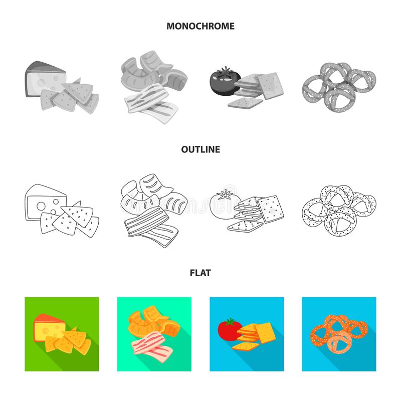 Vectorontwerp van smaak en seasonin symbool Reeks van smaak en organisch vectorpictogram voor voorraad vector illustratie