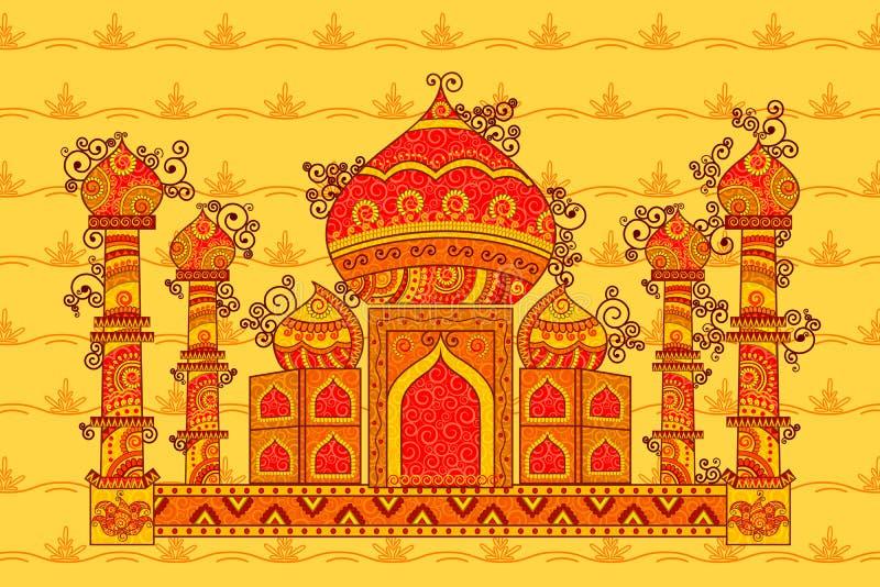Vectorontwerp van Taj Maha royalty-vrije illustratie