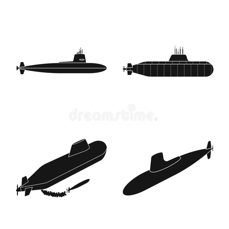 Vectorontwerp van technologie en vlootembleem Inzameling van technologie en marine vectorpictogram voor voorraad stock illustratie