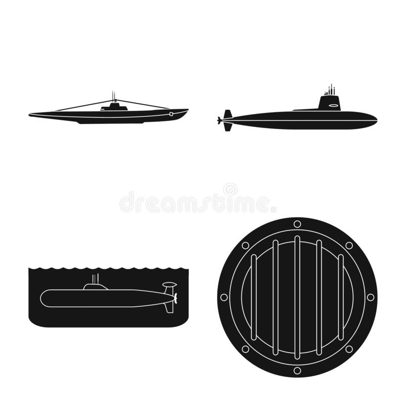 Vectorontwerp van technologie en vlootpictogram Inzameling van technologie en de vectorillustratie van de marinevoorraad stock illustratie