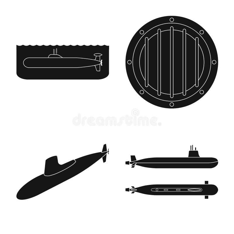 Vectorontwerp van technologie en vlootpictogram Inzameling van technologie en marinevoorraadsymbool voor Web stock illustratie