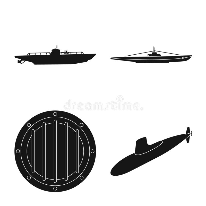 Vectorontwerp van technologie en vlootteken Inzameling van technologie en marine vectorpictogram voor voorraad royalty-vrije illustratie