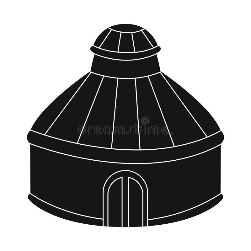 Vectorontwerp van tent en koepelsymbool Reeks van tent en parkvoorraadsymbool voor Web royalty-vrije illustratie
