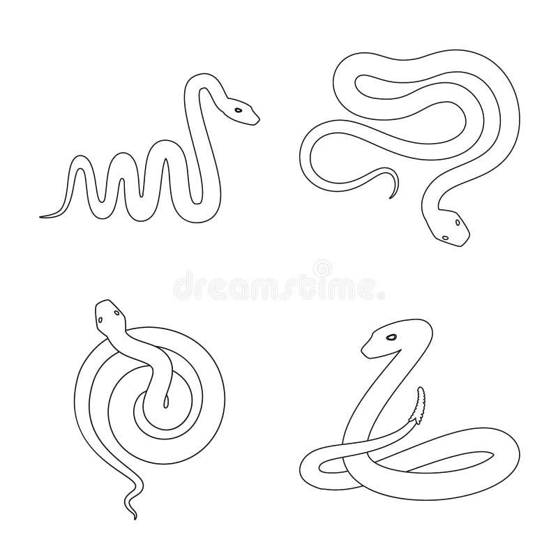 Vectorontwerp van vergift en kwaad pictogram Inzameling van vergift en beet vectorpictogram voor voorraad royalty-vrije illustratie