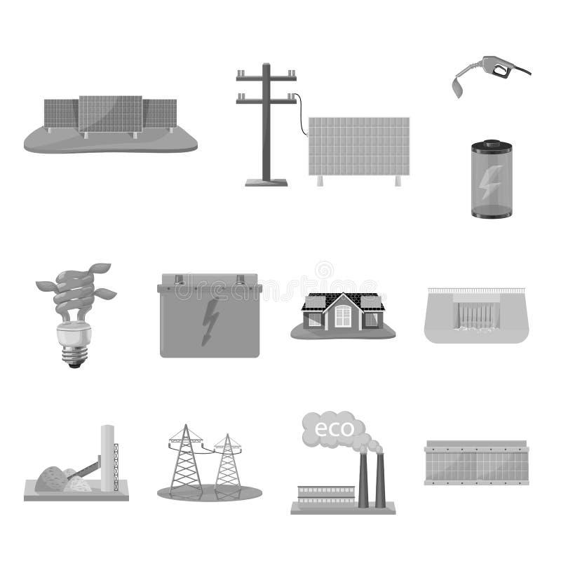 Vectorontwerp van vernieuwbaar en milieusymbool Reeks van vernieuwbaar en organisch voorraadsymbool voor Web royalty-vrije illustratie