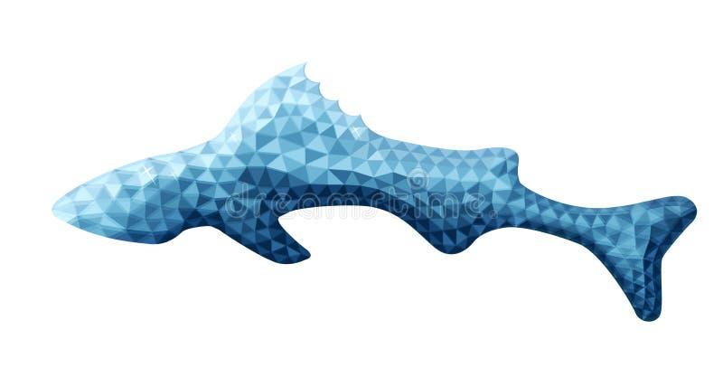 Vectorontwerp van vissen in lage polystijl stock illustratie