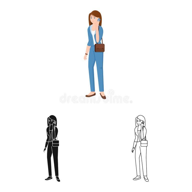 Vectorontwerp van vrouwen en bedrijfsteken Reeks van vrouw en businessperson voorraadsymbool voor Web stock illustratie