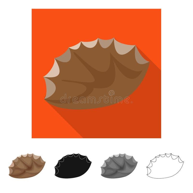 Vectorontwerp van vuursteen en scherp teken Reeks van vuursteen en evolutie vectorpictogram voor voorraad royalty-vrije illustratie