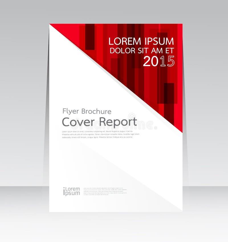 Vectorontwerp voor Affiche van de de Brochurevlieger van het Dekkingsrapport de Jaarlijkse in A4 grootte stock illustratie
