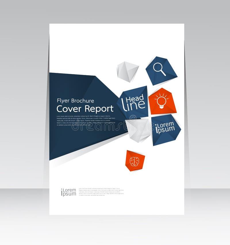 Vectorontwerp voor Affiche van de de Brochurevlieger van het Dekkingsrapport de Jaarlijkse in A4 grootte royalty-vrije illustratie