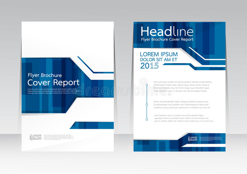 Vectorontwerp voor de Affiche van de de Brochurevlieger van het Dekkingsrapport in A4 grootte stock illustratie