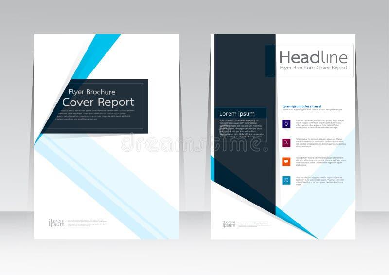 Vectorontwerp voor de Affiche van de de Brochurevlieger van het Dekkingsrapport in A4 grootte royalty-vrije illustratie