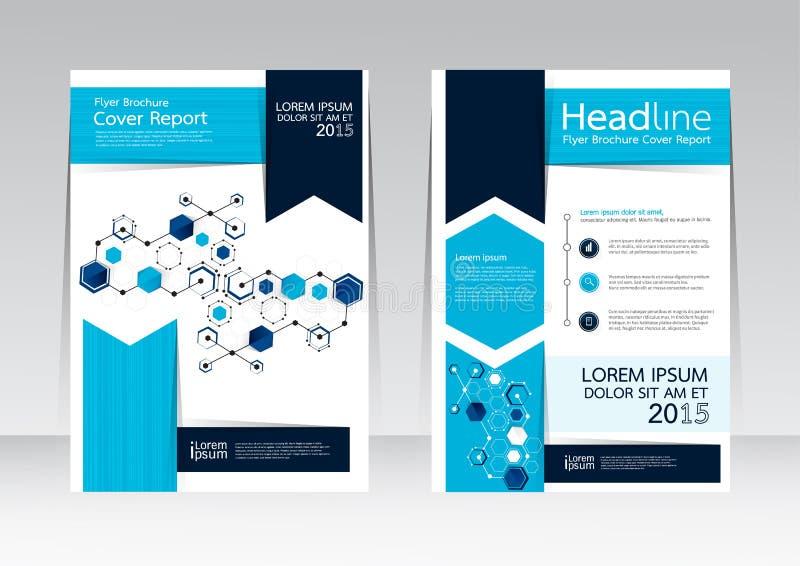Vectorontwerp voor de Affiche van de de Brochurevlieger van het Dekkingsrapport in A4 grootte vector illustratie
