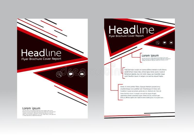 Vectorontwerp voor de Brochurevlieger van het Dekkingsrapport in A4 grootte vector illustratie