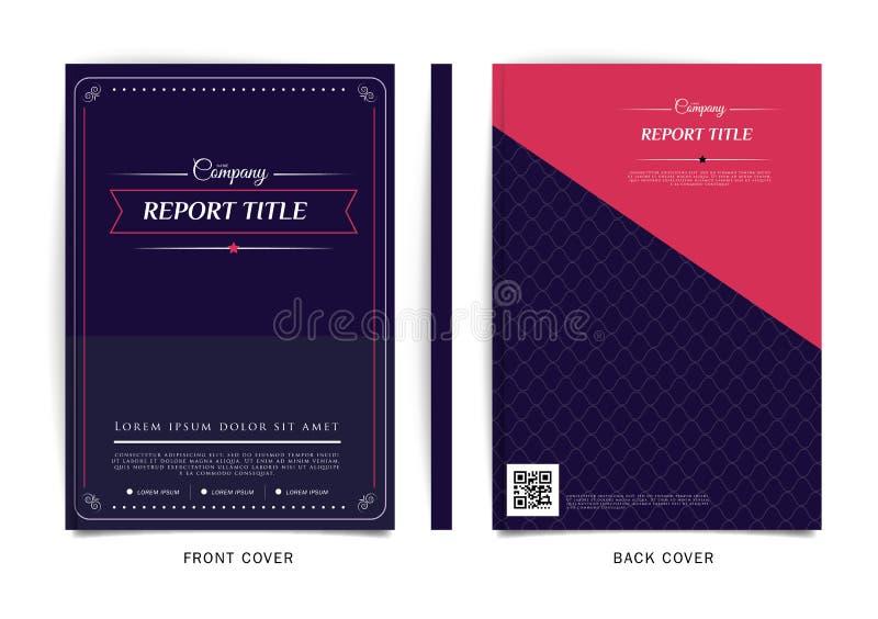 Vectorontwerp voor Dekkingsrapport, Brochure, Vlieger, Affiche in A4 grootte stock illustratie