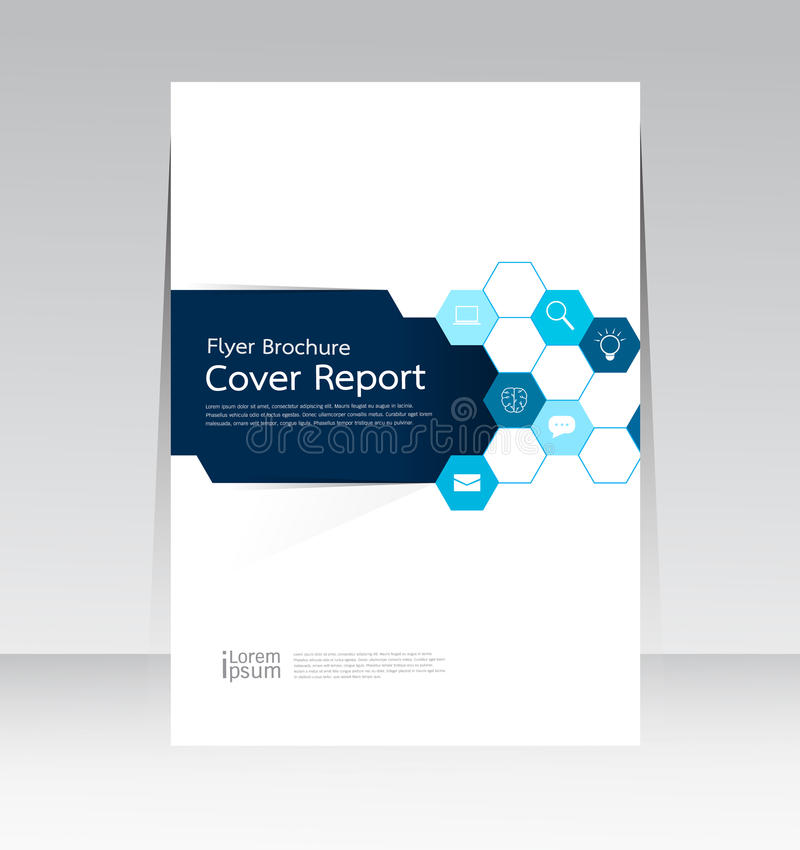 Vectorontwerp voor Jaarlijkse de Vliegeraffiche van het Dekkingsrapport in A4 grootte royalty-vrije illustratie