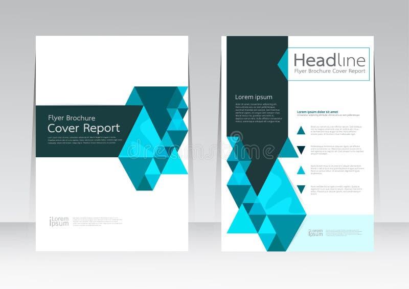 Vectorontwerp voor Jaarlijkse de Vliegeraffiche van het Dekkingsrapport in A4 grootte vector illustratie