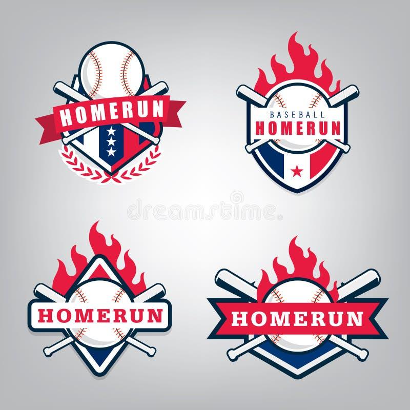 Vectorontwerpreeks van het team van de Honkbalsport vector illustratie