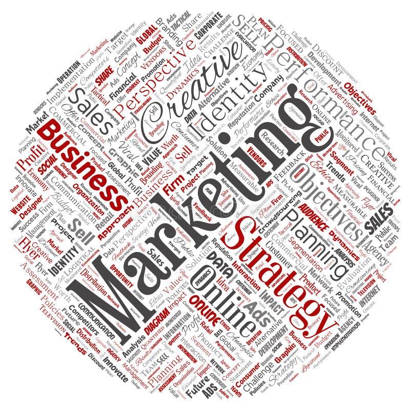 Vectorontwikkelings bedrijfs marketing doel stock illustratie