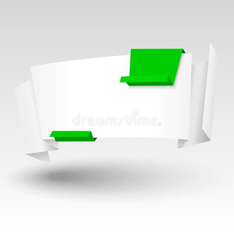 Vectororigamibanner vector illustratie