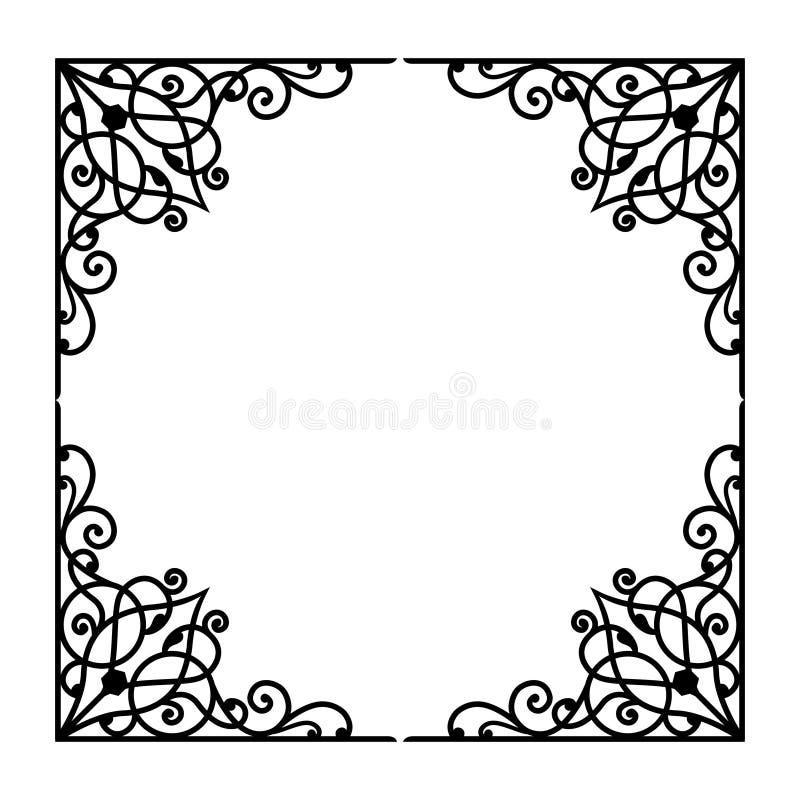VECTORornament 2 awarawar selok vector illustratie