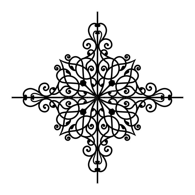 VECTORornament 3 awarawar selok vector illustratie