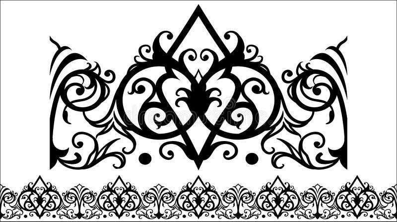 VECTORornament 4 awarawar selok royalty-vrije illustratie