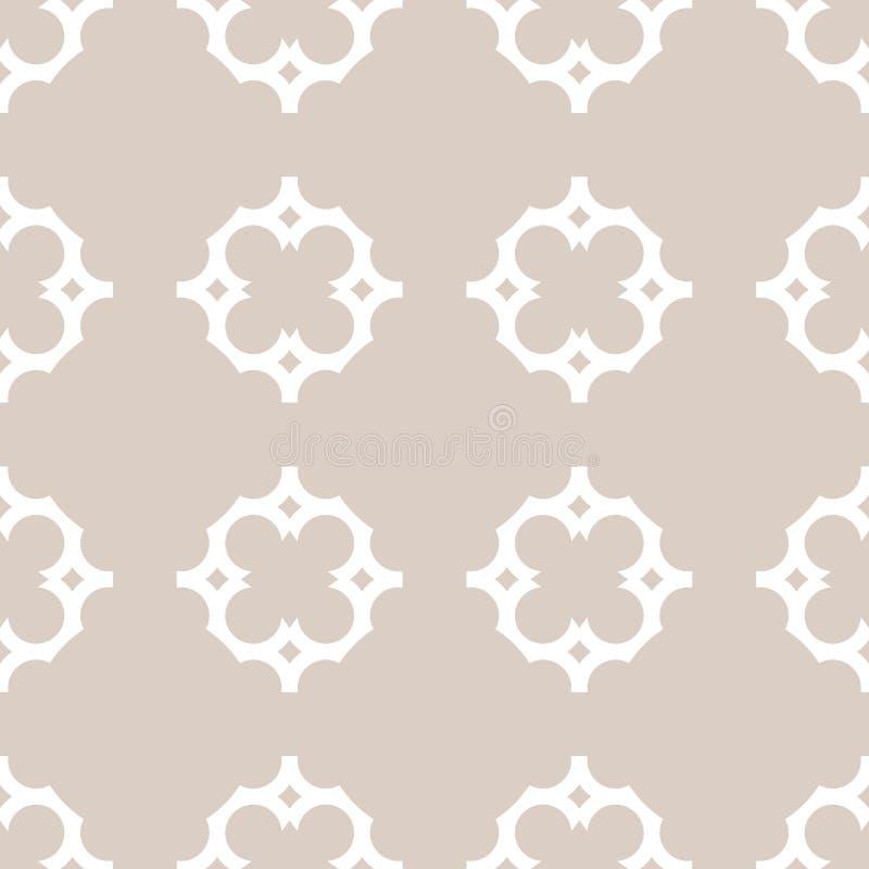 Vectorornament naadloos patroon in Arabische stijl Elegante damasttextuur stock illustratie