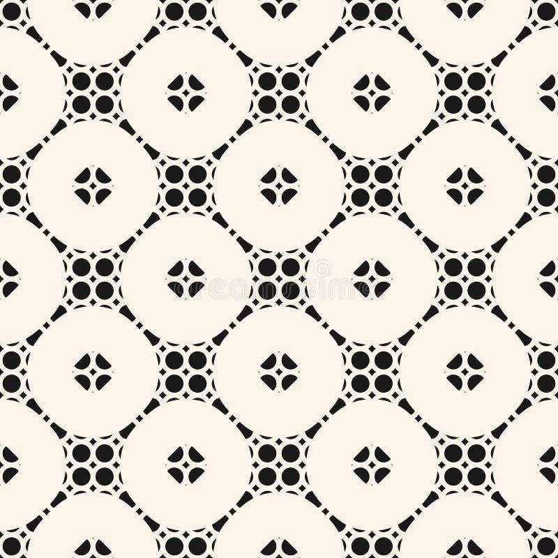 Vectorornament naadloos patroon in oosterse stijl Textuur van net, rooster vector illustratie