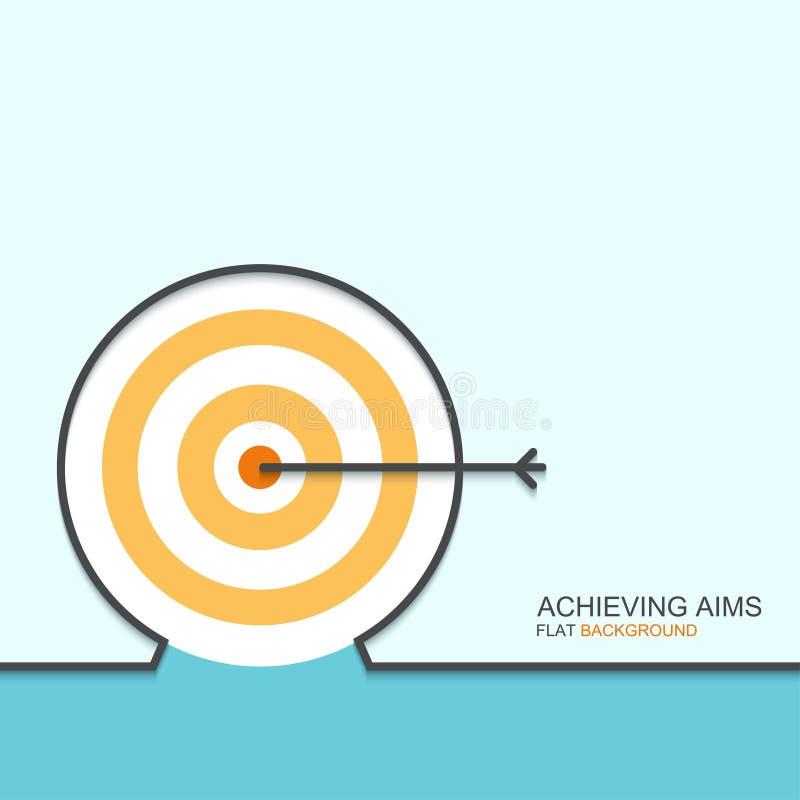 Vectoroverzichts vlak ontwerp van het bereiken van doelstellingen royalty-vrije illustratie