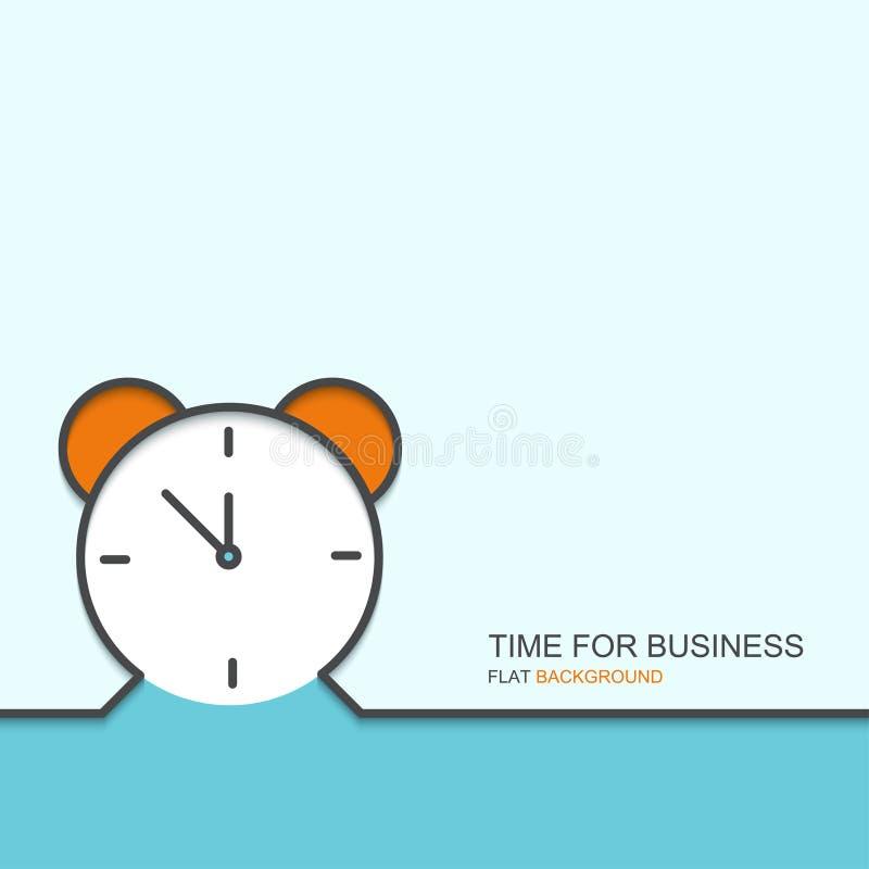 Vectoroverzichts vlak ontwerp van tijd voor zaken vector illustratie