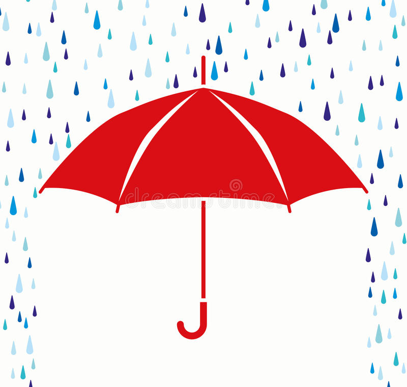 vectorparaplubescherming tegen regendalingen