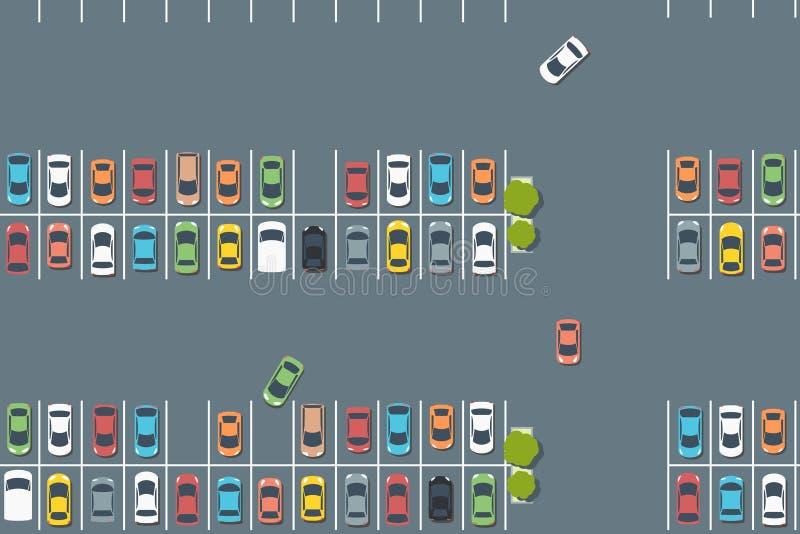 Vectorparkeerterrein stock illustratie