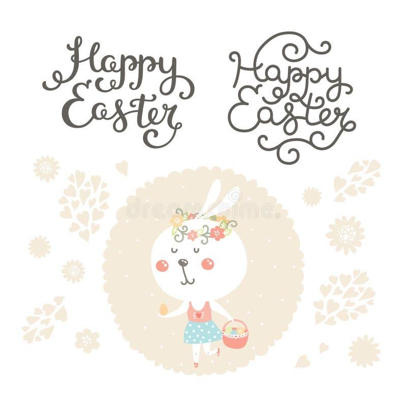 Vectorpasen-inzameling met konijntje vector illustratie
