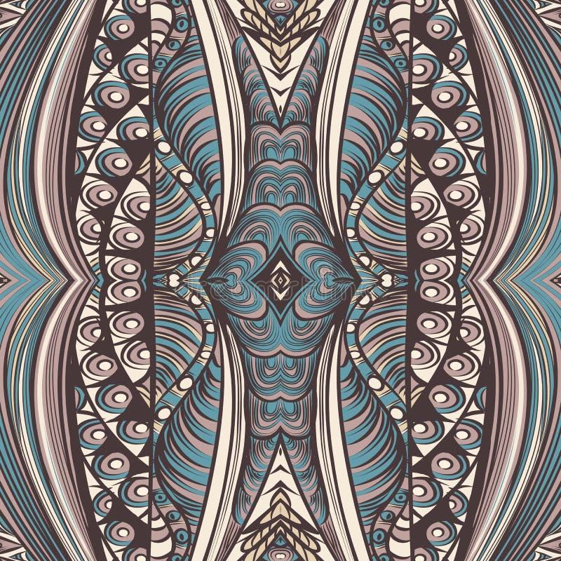 Vectorpatroon als achtergrond of behang in de stijl van de zentaglekrabbel vector illustratie