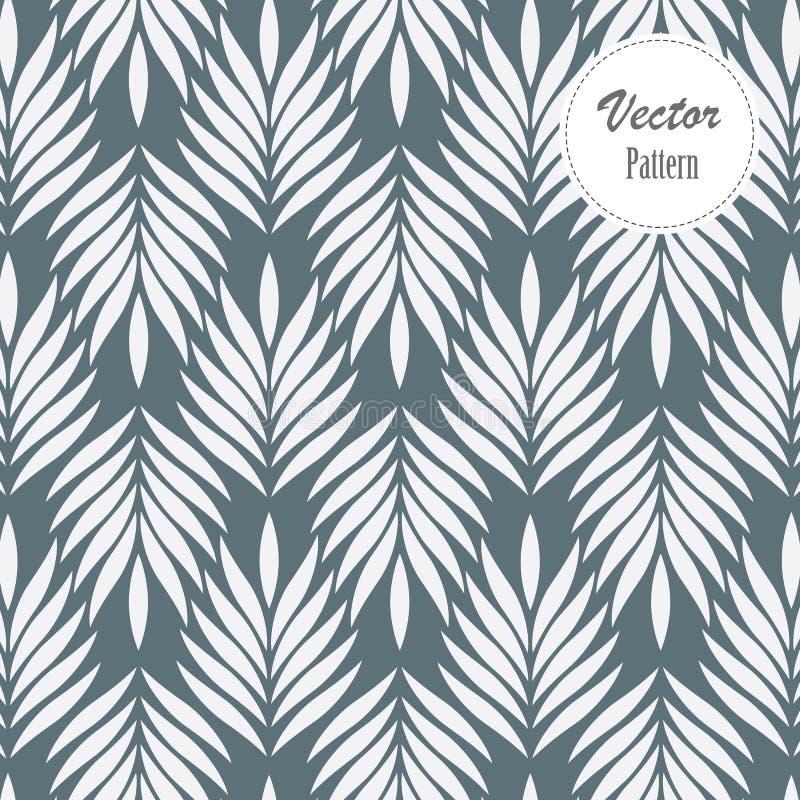 Vectorpatroon, die abstracte bladeren, voorwerp van blad of bloem herhalen, bloemen royalty-vrije illustratie