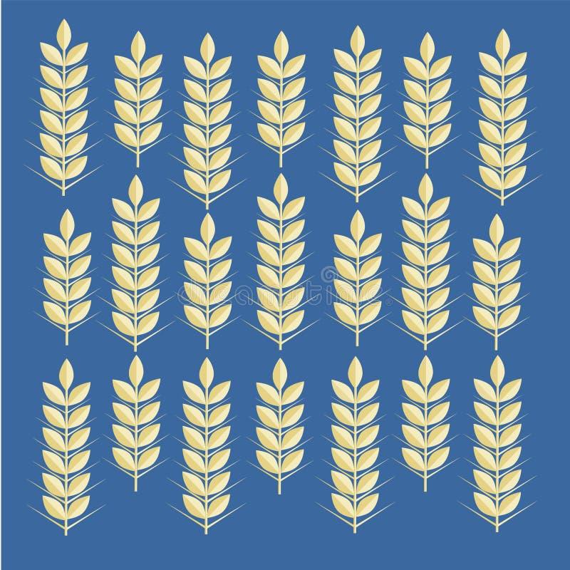 Vectorpatroon met beelden van tarweoren stock illustratie