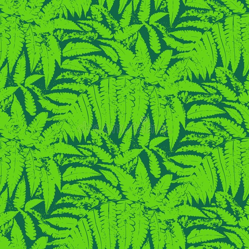 Vectorpatroon met bladeren van tropische installaties vector illustratie