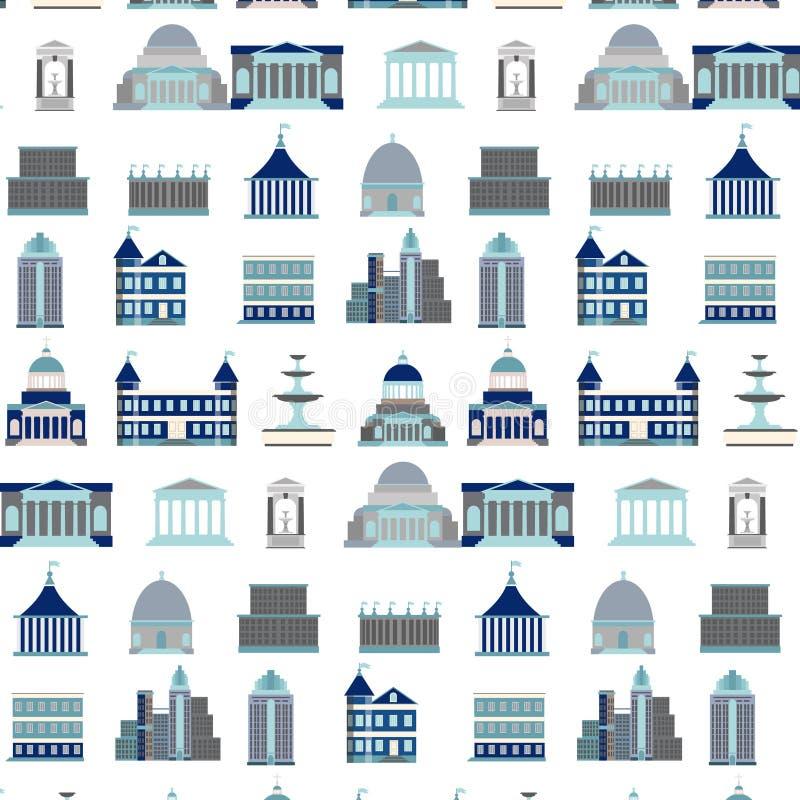 Vectorpatroon met stadsaannemer royalty-vrije illustratie